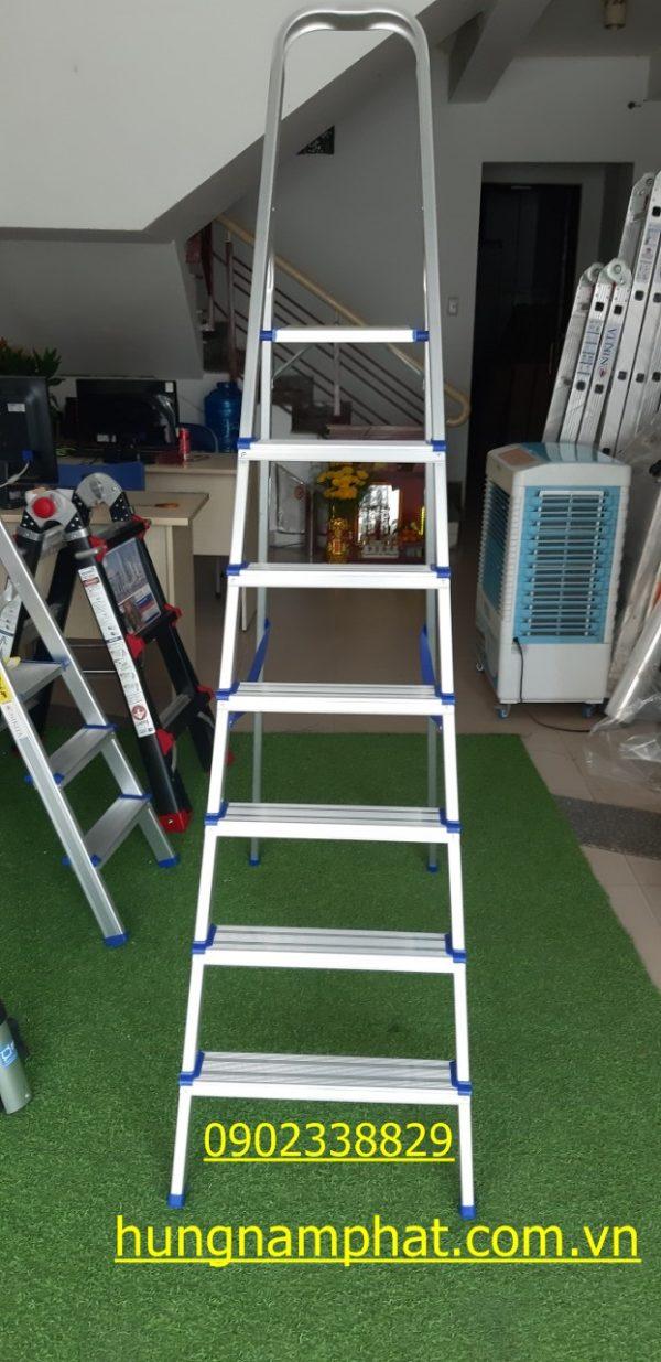 thang nhôm ghế tay vịn 7 bậc nikita