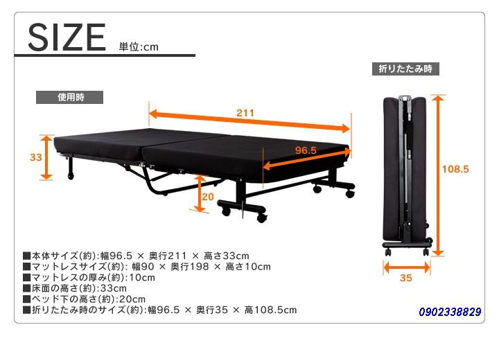 giường gấp nhập khẩu nhật bản OTB-E